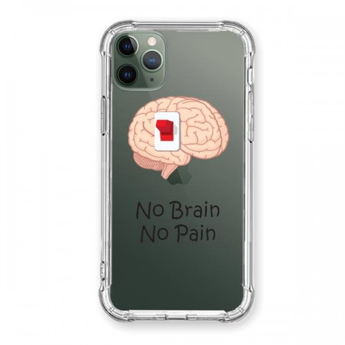 iPhone 11 Pro Desenli Kapak No Brain No Pain