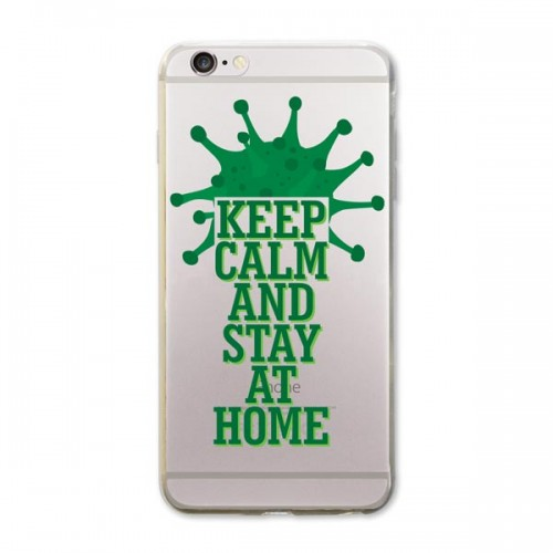 Keep Calm and Stay At Home iPhone Kapağı